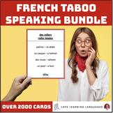 French Taboo Speaking Games Bundle - Jeux de Tabou en Français