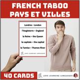French Taboo Game - Pays et Villes - Jeu de Tabou en Français