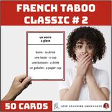 Classic French Taboo Speaking Game - Version 2 - Jeu de Ta