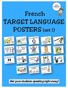 French Target Language Posters - Set 1