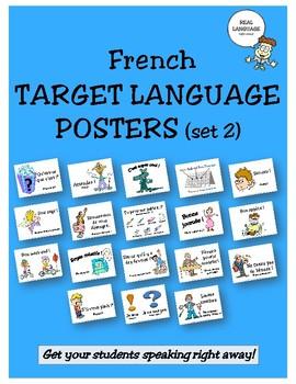 French Target Language Posters - Set 2