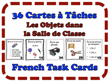 French Classroom Objects Task Cards, Vocabulary