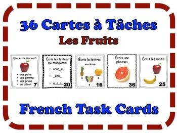 French Fruit Task Cards, Vocabulary