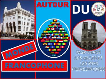 French Task Cards:  Les Villes et les Pays Francophones