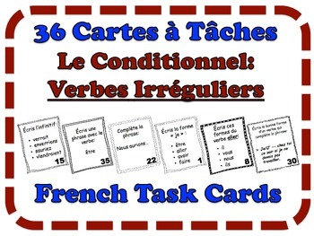 French Conditional (Irregular Verbs) Task Cards