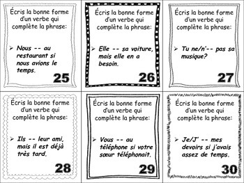 French Conditional (Regular Verbs) Task Cards