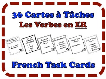 French ER Verbs Task Cards