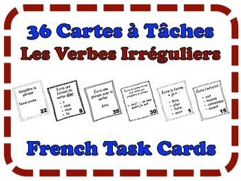 French Irregular Verbs Task Cards