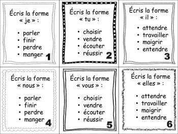 French Passé Composé (Regular Verbs) Task Cards
