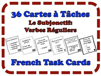 French Subjunctive (Regular Verbs) Task Cards