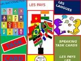 French Task Cards: Les Nationalités,  Les Pays et Les Langues
