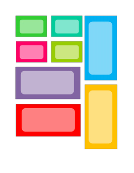 French Teacher Toolkit Labels Multi-Color