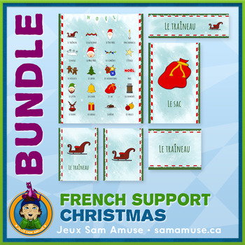 French Christmas Noël • Posters & Flash Cards Bundle