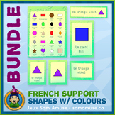 French Shapes with Colours • Posters & Flash Cards Bundle