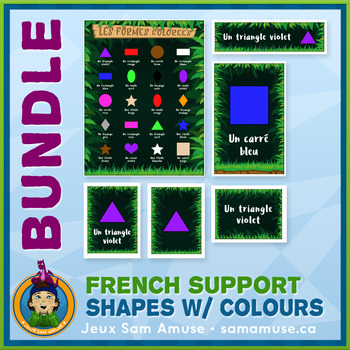 French Teaching Material - Colored Shapes - Jungle