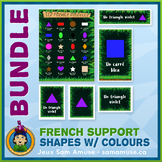 French Shapes with Colours • Flash Cards & Word Wall Poste