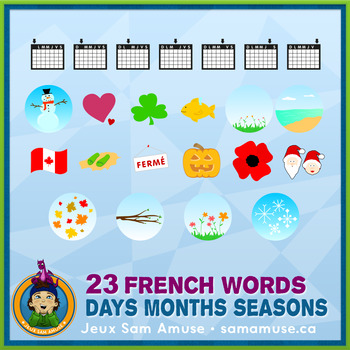 French Teaching Material - Days Months Seasons - Circus