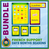 French Days Months Seasons • Flash Cards & Word Wall Poste