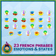 French Emotions & States • Flash Cards & Word Wall Posters Bundle • Circus Theme