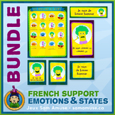 French Emotions & States • Flash Cards & Word Wall Posters