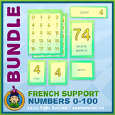 French Numbers 0 to 100 • Posters & Flash Cards Bundle • A