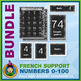 French Teaching Material - Numbers 0 to 100 - Jungle