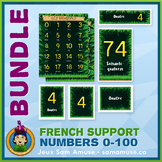 French Numbers 0 to 100 • Posters & Flash Cards Bundle • J