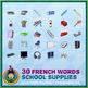 French Teaching Material - School Supplies - Circus