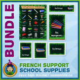 French School Supplies • Flash Cards & Word Wall Posters B