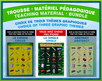 French Teaching Material - Time Clock - Jungle