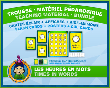 French Teaching Material - Time in Words - Circus
