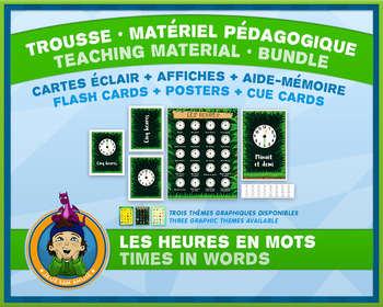 French Teaching Material - Time in Words - Jungle