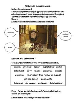 French Teaching Resources. Belleville Rendez-Vous links to Le Tour de France.