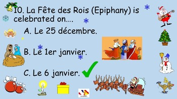 French Teaching Resources: Christmas Quiz. Noël.