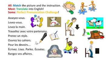French Teaching Resources Classroom Instructions PowerPoint & Fanfold