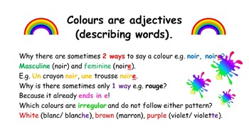 French Teaching Resources Colours Worksheet. Les Couleurs!