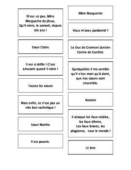 French Teaching Resources. Cyrano De Bergerac Matching Car