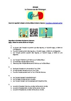 French Teaching Resources. France & French Stereotypes. Cliché!  Cédric Villain.