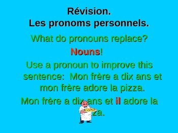 French Teaching Resources. Personal Pronouns.