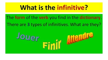 French Teaching Resources.Present Tense PowerPoint, Matching cards & Worksheet.