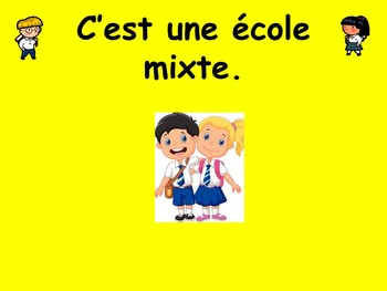 French Teaching Resources School Buildings & Facilities PowerPoints & Worksheet