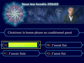 French Teaching Resources. The Conditional Perfect Millionaire Game.