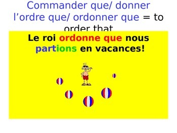 French Teaching Resources. The Subjunctive: Giving Orders.