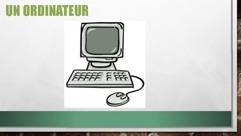 French Technology Vocabulary PowerPoint