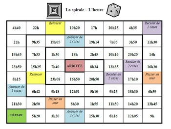 French Telling Time Board Games