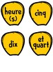 French Telling Time Clock Display Kit