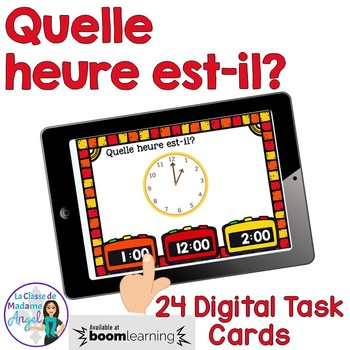 Quelle heure est-il?  French Telling Time Digital Task Cards - BOOM CARDS