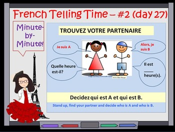French Telling Time Lesson DTG 27- Day~2 and teaching French numbers 40 - 79