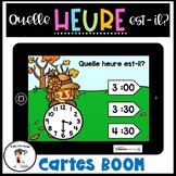 French Telling Time   Quelle heure est-il? BOOM CARDS Distance Learning