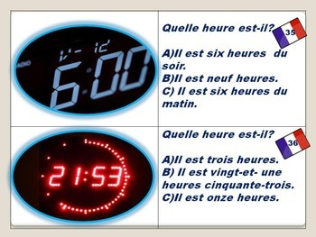 French: Telling Time Task Cards